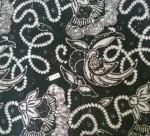 Jual Kain Batik Cap Warna Hitam KBT-0008