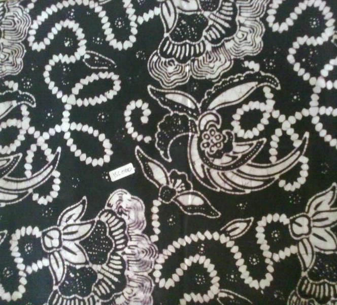 Jual Kain Batik Cap Warna Hitam