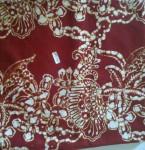 Jual Kain Batik Cap Warna Merah Maroon