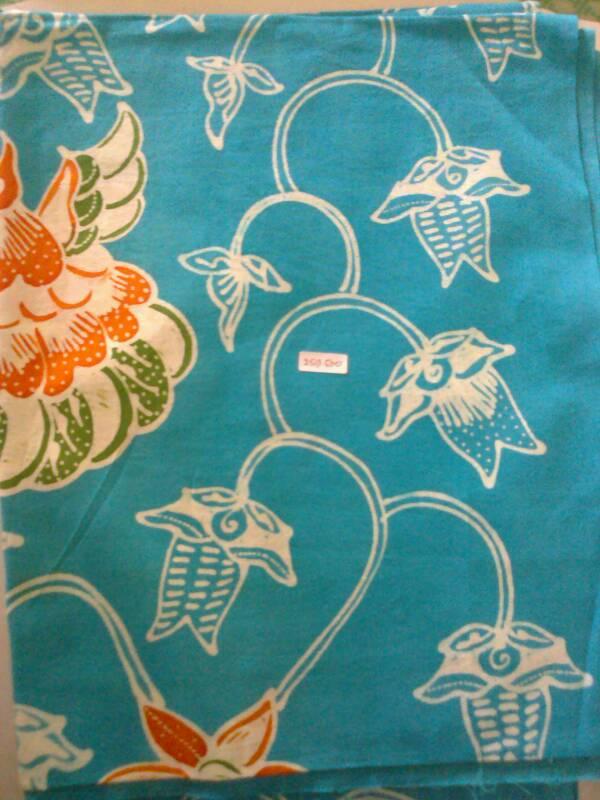 Jual Batik Tulis wonogiren Warna Biru murah