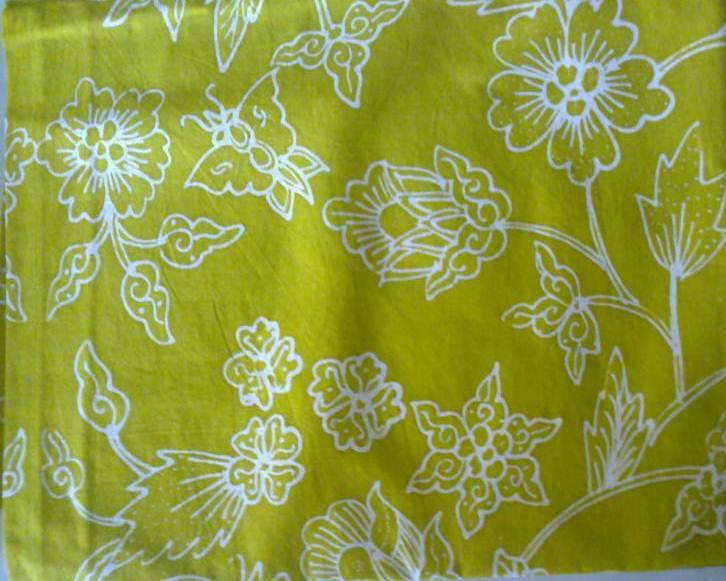Gambar kain Batik Tulis Warna Hijau Muda