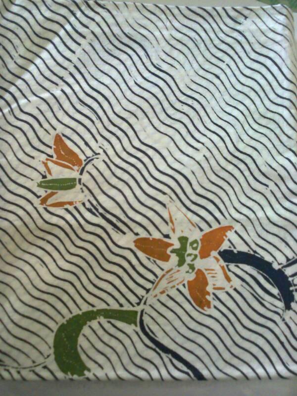 kain batik tulis motif bunga KBT-0015