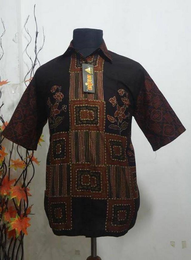baju batik pria modern pekalongan