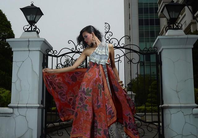 model baju batik dress