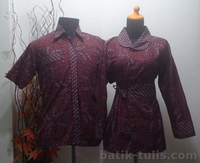 batik sarimbit blouse coklat