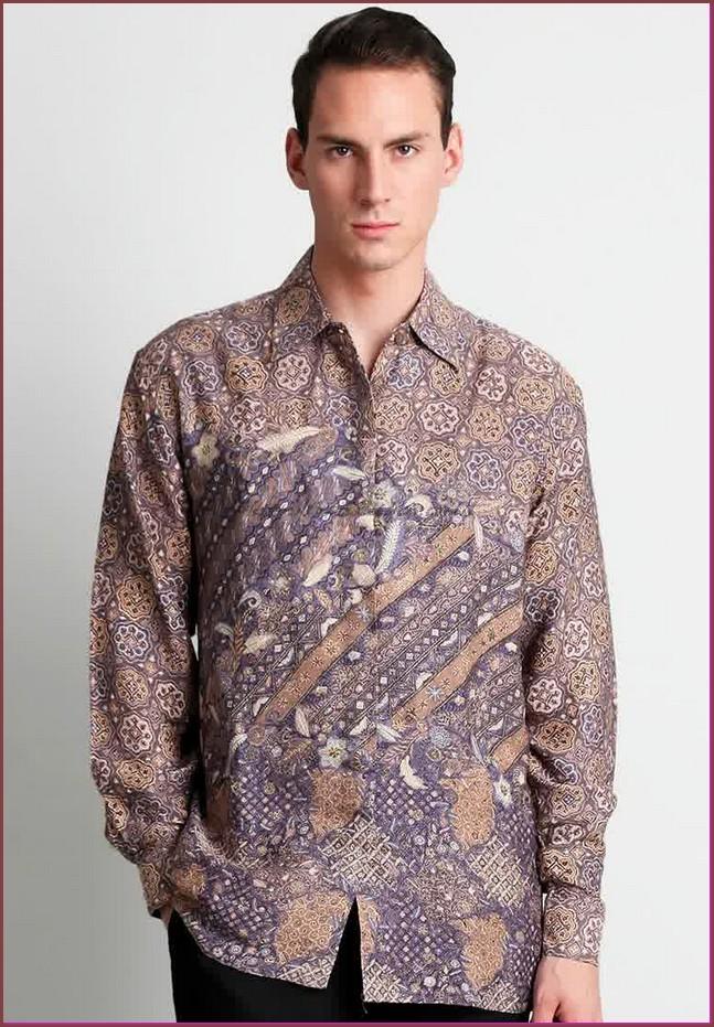 gambar baju batik pria lengan panjang