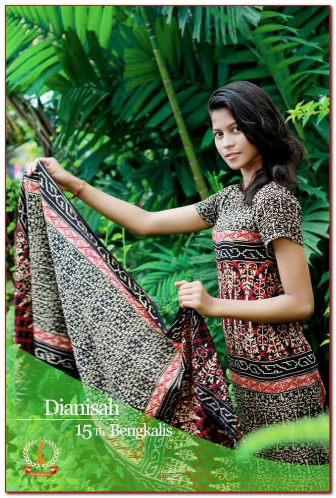 gambar model baju batik riau