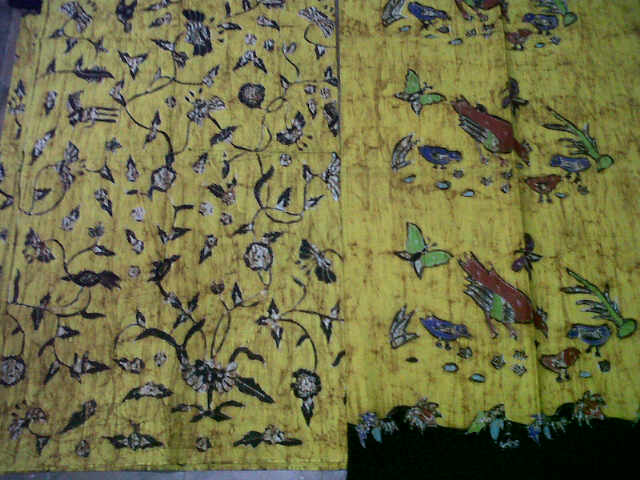 Kain Batik tulis madura warna kuning