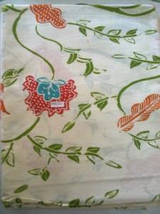 Gambar Kain batik tulis warna hijau KBT- 015