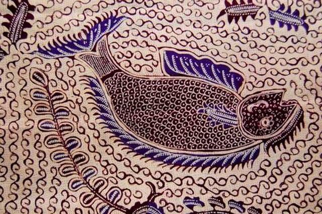 gambar batik indramayu motif iwak etong