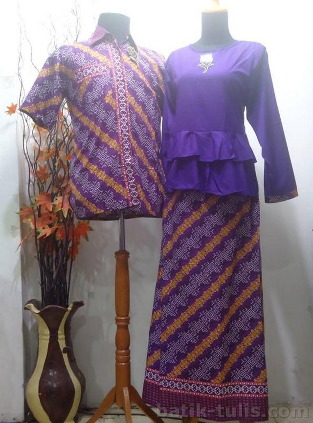 batik sarimbit gamis ungu