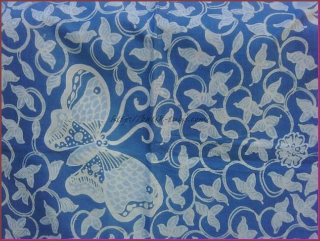 batik indigo motif lung kupu