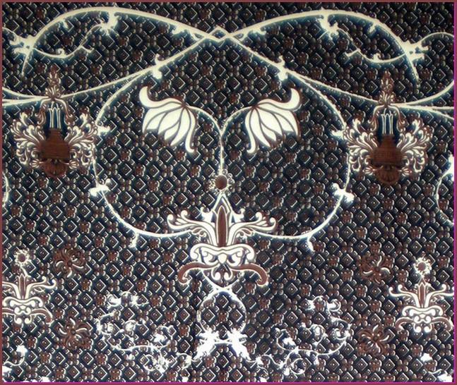 gambar batik malang - motif teratai