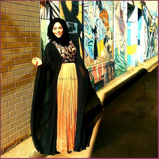 gambar model baju batik muslim untuk wanita gemuk