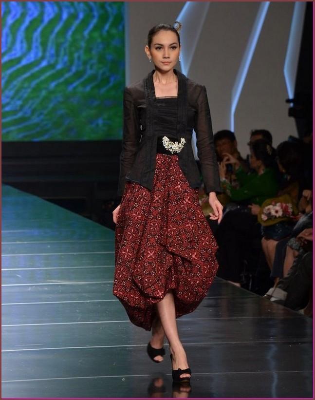 model baju batik kombinasi setelan rok