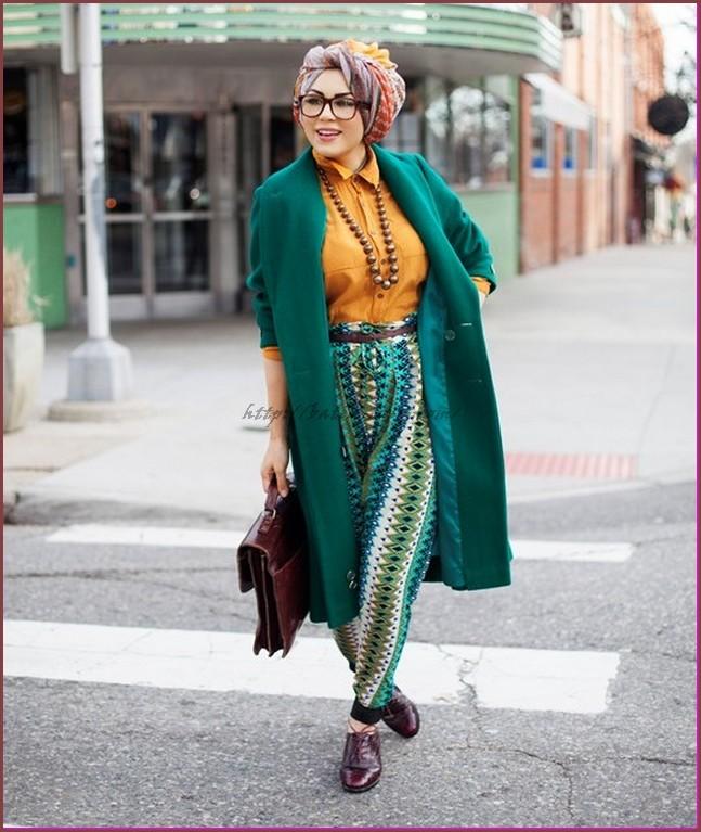 model baju batik muslim wanita gemuk