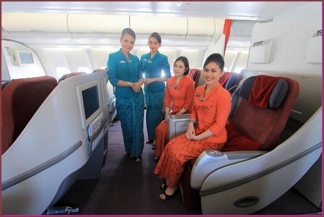 model baju batik pramugari modern