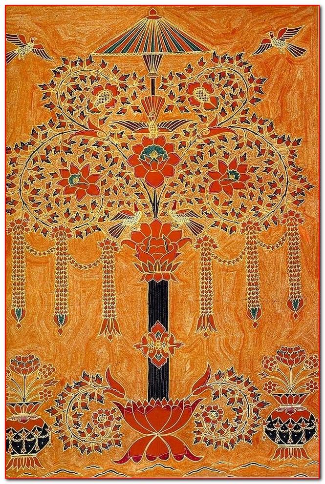 batik lampung motif pohon hayat