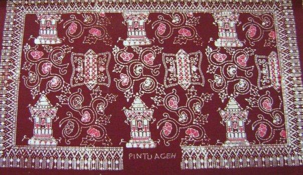 gambar Batik Aceh Motif Pintu Aceh