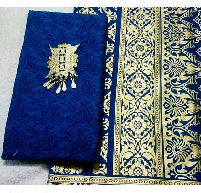 Batik Pekalongan || Kain Prada Emas n Embos