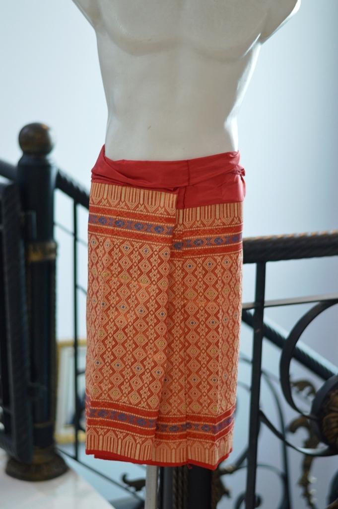 Kain Setengah Songket motif batik melayu pria pinggul pagar bagus