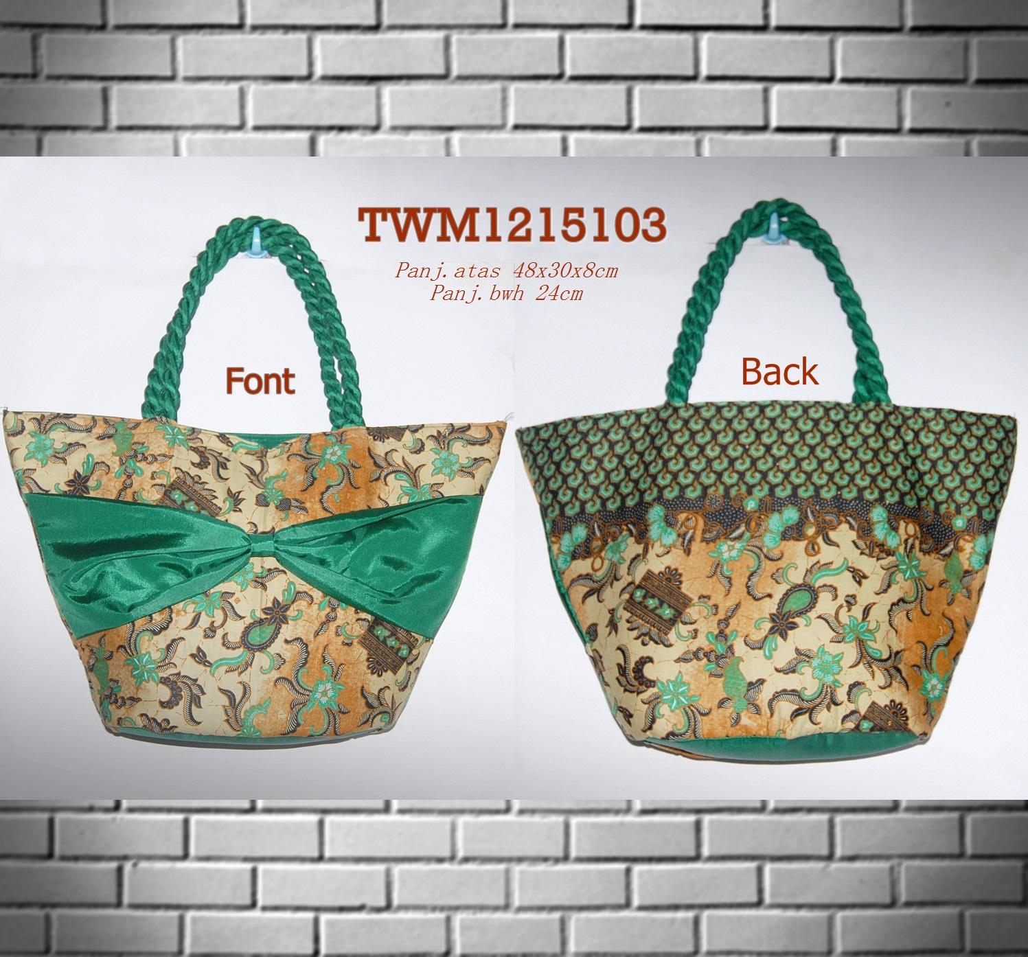 jual tas batik shoulder warna hijau